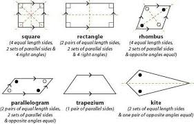 Quadrilateral Properties Chart Answers Write The Properties Of Different Types Of Quadrilaterals