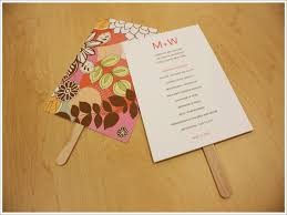 image of wedding program fans diy