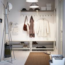 entryway coat rack by ikea in slim shape with shoes storage