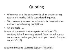 Grad Class Paraphrasing Summarizing And Quoting Slide Share