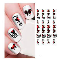 Disney Nail Decals Mickey Mouse Minnie Mouse Valentines ti262- Buy Online  in Bosnia and Herzegovina at Desertcart - 120045498.