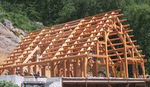 timber frame structure for one of rand soellner s castle home designs c copyright