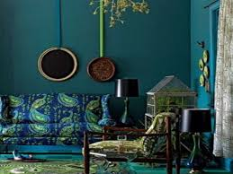 Peacock Colors Living Room Bohemian Paint Colors Peacock Blue Bedroom Ideas Peacock Blue