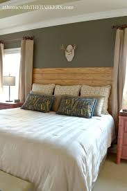shiplap headboard king master bedroom makeover with rustic decor and style shiplap headboard king diy shiplap headboard