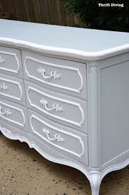 painted furniture makeover gold metallic. Before And After: French Provincial Dresser Makeover - Thrift Diving Painted Furniture Gold Metallic
