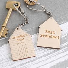 personalised fathers day gift for dad keyring best grandad natural