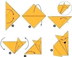 <b>Лиса</b> оригами - Сайт для мам малышей | Оригами кошка, Бумага ...
