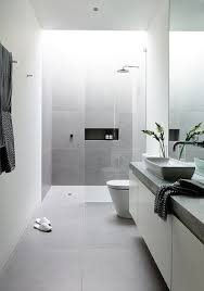 When balanced out, even the pitch black can look stylish rather than depressing. 25 Gray And White Small Bathroom Ideas Minimalist Bathroom Modern Bathroom Design Bathroom Design