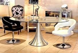 sweet charming silver oval glass dining table room le room glass top dining room tables including
