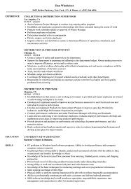 Distribution Supervisor Resume Samples Velvet Jobs