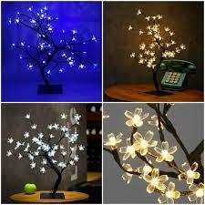 Cherry Blossom Christmas Lights 45cm Light Up Cherry Blossom Christmas Tree 48 Led Xmas Decor Ornament Lighting