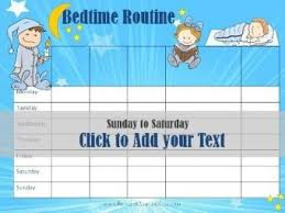 Free Printable Bedtime Chart Free Printable Bedtime Routine Chart Customize Online Then