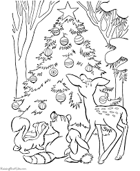 Christmas Coloring Pages Animal Fun Coloring Home