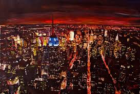 empire state building art fine art america empire state building new york city at night painting