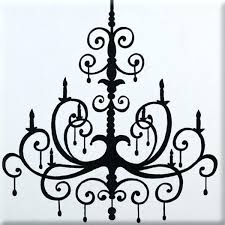 metal chandelier wall art black imagination square hand painted canvas by chandeliers card drinking game