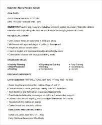 Resume Babysitting Skills Resume Version