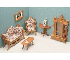 dollhouse miniature furniture. Fine Dollhouse Greenleaf Dollhouse Furniture Kit Living Room And Miniature