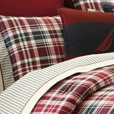 red plaid sheets queen
