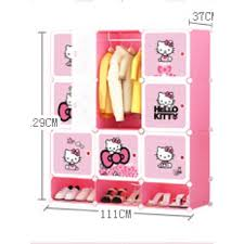 hello kitty furniture. Lemari Pakaian Rak Baju Hello Kitty Sanrio Furniture Sepatu Buku Korea