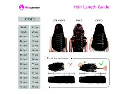 Hair Length Chart Weave Straight Hair Extensions Length Guide Inches Of Weave Human Hair