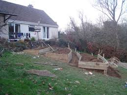 levelling a garden slope haunted swamp designs bluebirds and blueberries tiered gardens