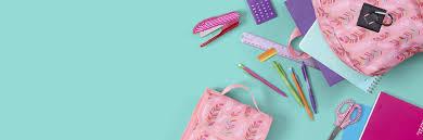 backpack pencils ruler and stapler for back to