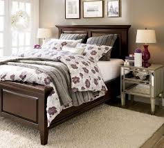 wood and mirrored furniture. dark wood bed frame with mirrored nightstand and furniture m