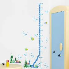 Anchor Height Ruler Home Decoration Sticker Wallpaper Kids Height Chart Wall Sticker Home Decor Cartoon