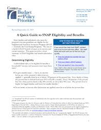 A Quick Guide To Snap Eligibility And Benefits Center On