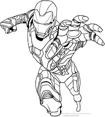 Disegno Di Iron Man Con Mano Frontale Da Colorare