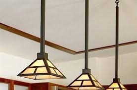 mission style ceiling light craftsman fixtures lighting arts and