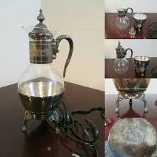 Buy the best and latest coffee pot warmer on banggood.com offer the quality coffee pot warmer on sale with worldwide free shipping. Vintage Electric Coffee Pot Carafe Drink Warmer Newport Silver Plate 100 Vintage Carafe Collectible Our Sister Co S Coffee Pot Water Modeling Carafe