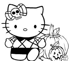 Small Picture Hello Kitty Halloween Coloring Pages Bestofcoloringcom