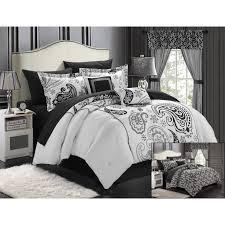 chic home olivia 20 piece paisley print reversible comforter set com