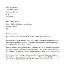 How To Write An Appeal Letter For College Readmission Cover