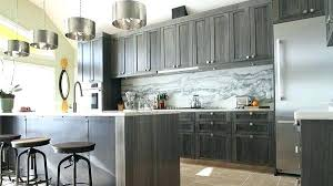 dark stained kitchen cabinets. Dark Gray Cabinets Grey Kitchen With Marble Stained A