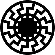 stylized versions of the black sun design