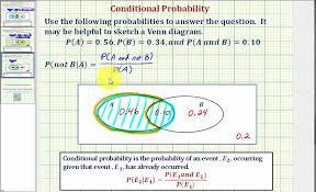 Probability Of A Given B Venn Diagram Ex 3 Determine A Conditional Probability Using A Venn Diagram P Not B A