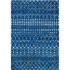blue geometric rug the curated nomad area rug
