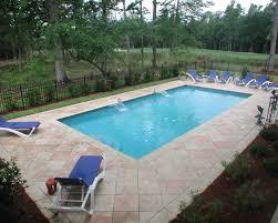 Rectangular Aqua Blue Pools