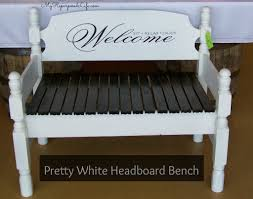 Headboard Bench Plans How To Make A Bench Out Of A Twin Headboard Using A Kreg Jig By My
