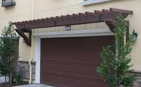 garage door arborArbor Over Garage Door This Garage Pergola With Red U Pink