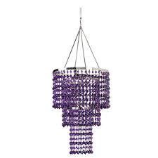 triple crown crystal chandelier purple