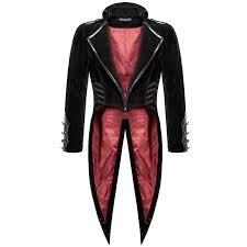 punk rave devil fashion steampunk vampire swallowtail gothic jackets for men