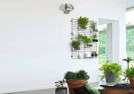 indoor living wall planter modular made of wire having small shelf with wall hanging planters indoor