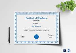 School Certificate Design Psd School Attendance Certificate Template
