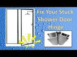 sticking shower door hinge repair
