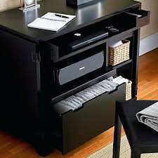 compact office desk cabinet printer office storage incognito ebony compact office in desks crate and barrel
