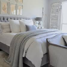 gray and white bedding ideas. Modren White Gray And White Bedroom With Tufted Headboard Chunky Throw Blanket Intended And Bedding Ideas I