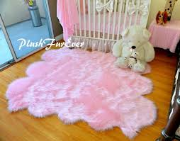 5 x 6 baby pink sheepskin area rug decor faux fur rugs sheep